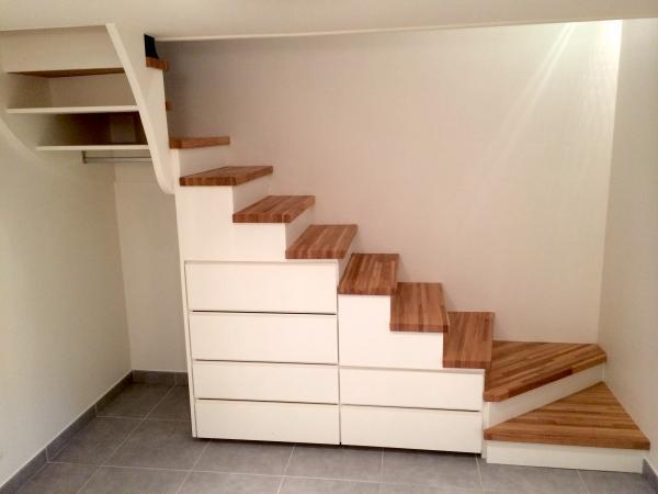 Philippe nourisson b niste dipl m de l 39 cole boulle - Petit meuble escalier ...